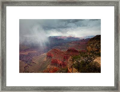 Advancing Storm Framed Print by Mike Buchheit