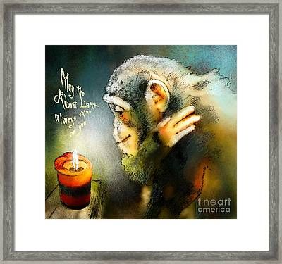 Advent Light Framed Print by Miki De Goodaboom