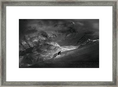 Adventure With Concerns Framed Print by Peter Svoboda