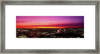 Aerial Los Angeles Ca Framed Print by Panoramic Images