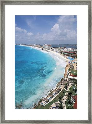 Aerial Of Cancun Framed Print by Bill Bachmann - Printscapes