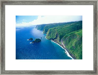 Aerial Of North Shore Framed Print by Peter French - Printscapes