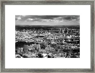 Aerial View Of London 6 Framed Print by Mark Rogan