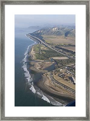 Aerial View Of Ventura Point, Ventura Framed Print by Rich Reid