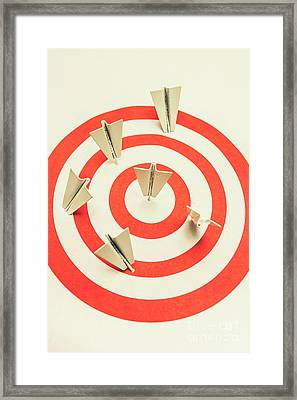 Aeroplane Target Pin Board Framed Print by Jorgo Photography - Wall Art Gallery