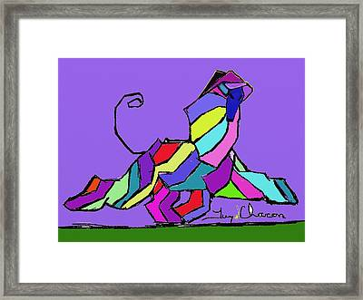 Af Moving Framed Print by Terry Chacon