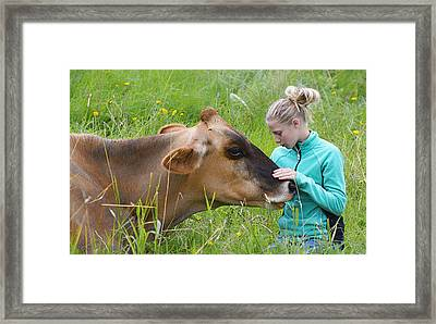 Affection And Fondness - A Candid Portrait Framed Print by Marty Saccone