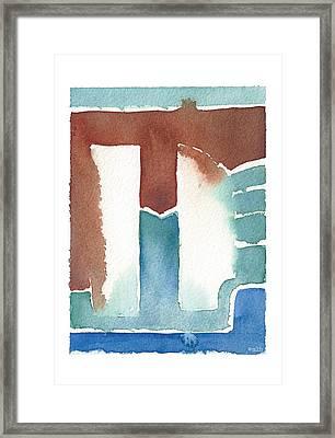 Afi Silver Door Framed Print by Meagan Healy