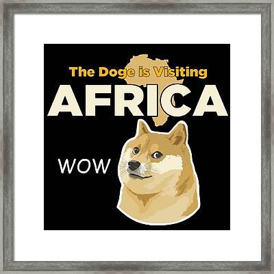 Africa Doge Framed Print by Michael Jordan