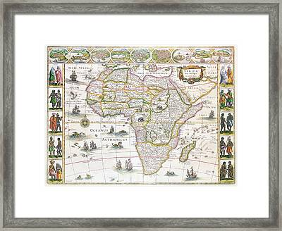 Africa Nova Map Framed Print by Willem Blaeu