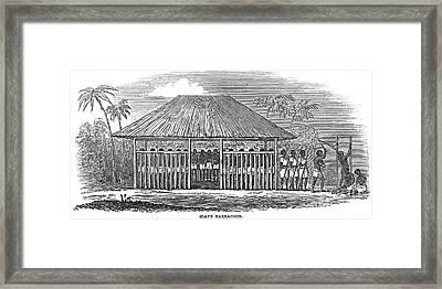 Africa: Slave Pen, 1849 Framed Print by Granger