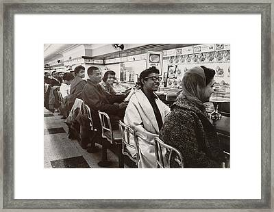 African Americans Sit In Protest Framed Print by Everett