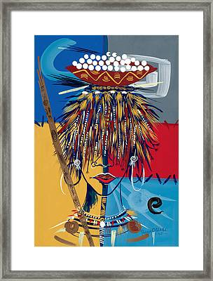 African Beauty 2 Framed Print by Oglafa Ebitari Perrin