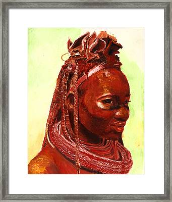 African Beauty Framed Print by Enzie Shahmiri