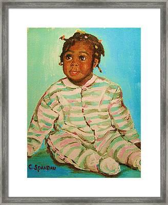 African Cutie Framed Print by Carole Spandau