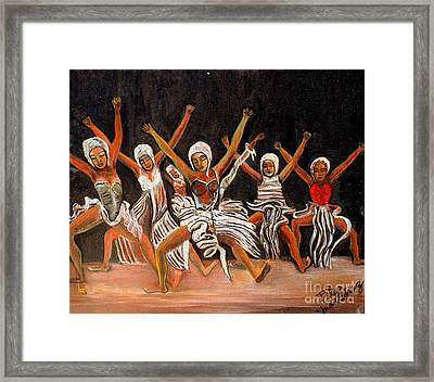 African Dancers Framed Print by Pilar  Martinez-Byrne