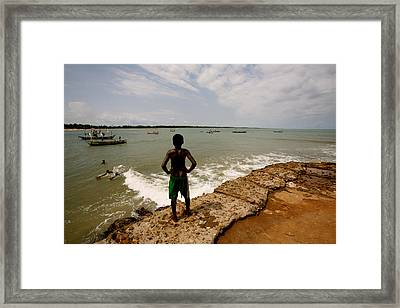 African Dreaming Framed Print by Julian Wicksteed
