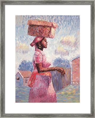 African Lady Framed Print by Carlton Murrell