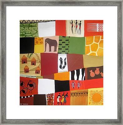 African Matrix Framed Print by Pat Barker
