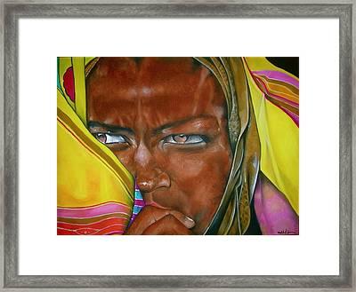 African Princess Framed Print by Ralph Lederman