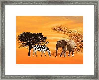 African Safari Framed Print by Sharon Lisa Clarke