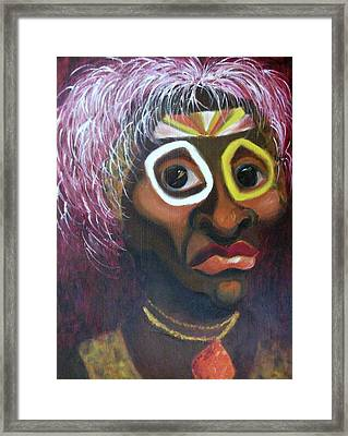 African Warrior Framed Print by Suzanne  Marie Leclair