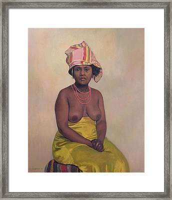 African Woman Framed Print by Felix Edouard Vallotton