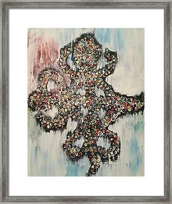 African Symbol Unity Framed Print by Christina Taylor
