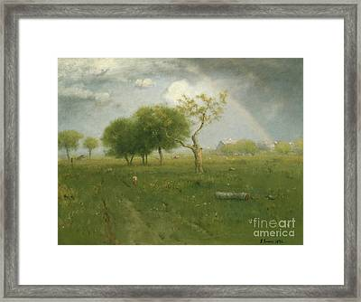 After A Summer Shower Framed Print by George Inness