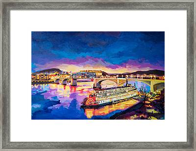 After Dusk Painting Framed Print by Steven Llorca