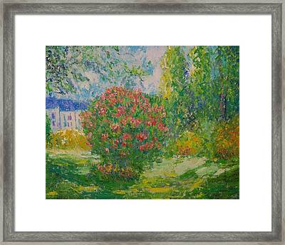 After Monet Framed Print by Lore Rossi