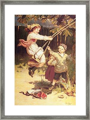 After School Framed Print by Frederick Morgan