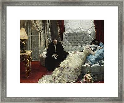 After The Ball Framed Print by Henri Gervex
