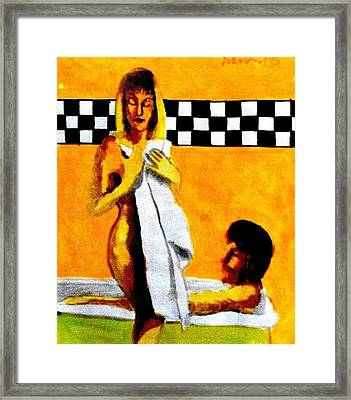 After The Bath 1 Framed Print by Harry WEISBURD