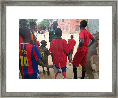 After The Game - Goree Boys Framed Print by Eugene Simon
