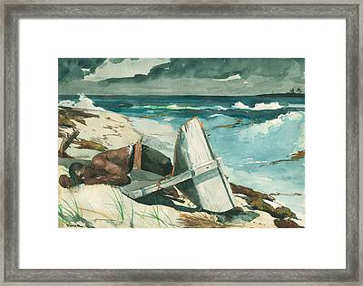 After The Hurricane Bahamas Framed Print by Winslow Homer