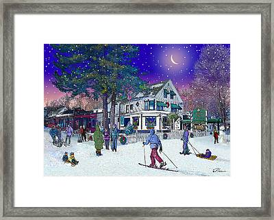 After The Storm At Woodstock Inn Framed Print by Nancy Griswold