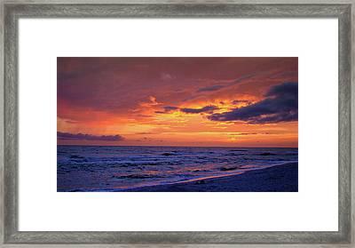After The Sunset Framed Print by Sandy Keeton