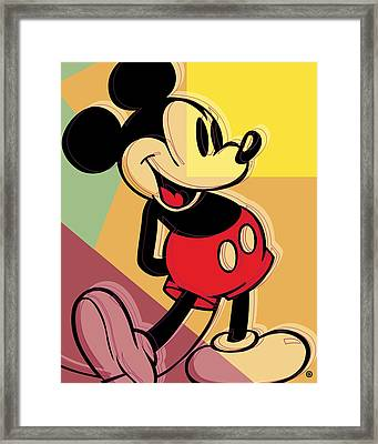 After Warhol Mickey Framed Print by Gary Grayson