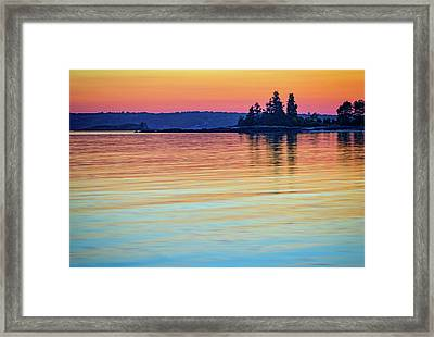 Afterglow On Johns River Framed Print by Rick Berk