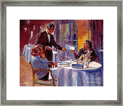 Afternoon At The Dorchester Framed Print by David Lloyd Glover