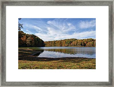 Afternoon At The Lake Framed Print by Sandy Keeton