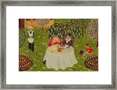 Afternoon Coffee Framed Print by Ditz