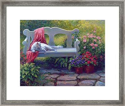Afternoon Delight Framed Print by Laurie Hein