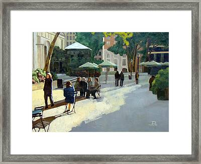 Afternoon In Bryant Park Framed Print by Tate Hamilton