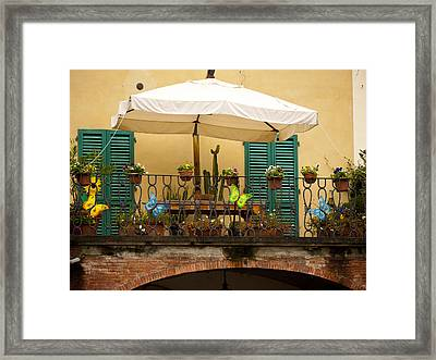 Afternoon In Greve In Chianti Framed Print by Rae Tucker