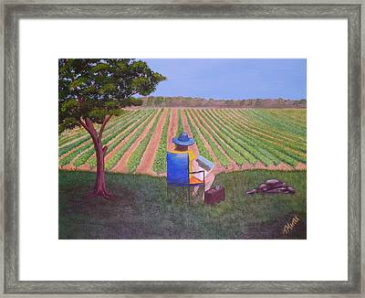 Afternoon In The Vineyard Framed Print by Tim Mattox