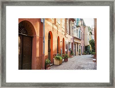 Afternoon In Villefranche-sur-mer Framed Print by Elena Elisseeva