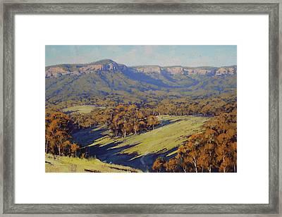 Afternoon Light Megalong Valley Framed Print by Graham Gercken