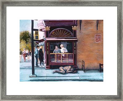Afternoon On Ithaca Commons Framed Print by John Clum